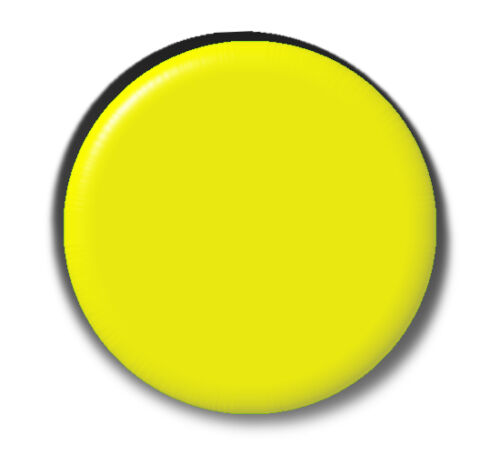 YELLOW BLANK 2.5cm BUTTON PIN BADGE  Multiple Discount Lots  MERIT BADGES SCHOOL