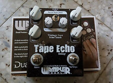 Wampler Faux Tape Echo with Tap Tempo Delay Guitar Effect Pedal USED