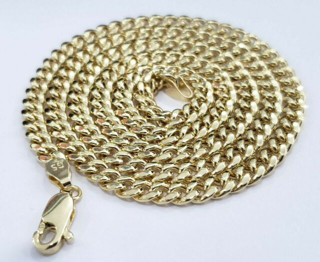 cf1fa5169a1fe Real 10K Yellow Gold Miami Cuban Link Chain 5 mm 26 Inches Necklace Lobster