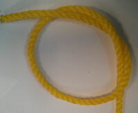 """3/8"""" x 600' 3-Strand Twisted Yellow Poly Pro Rope"""