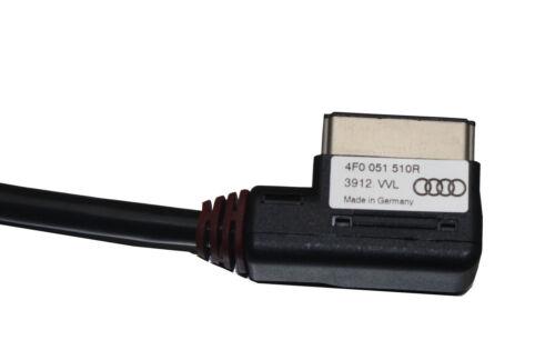 Nuevo Audi Q3 Serie 2012 AMI MMI 4f0051510r Iphone Ipod Audio y Video Cable