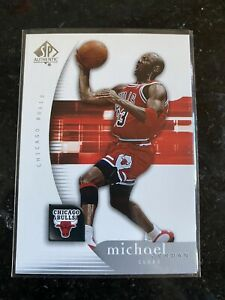 2005-06-SP-Authentic-Chicago-Bulls-Basketball-Card-12-Michael-Jordan-NMMT-HOF