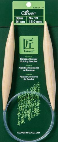 "YOU Choose The Size! Clover 3016 Takumi Bamboo Circular Knitting Needles 36/"""
