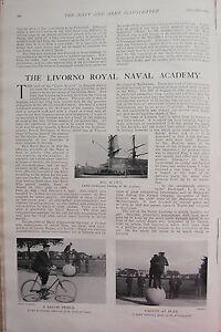 1902 Imprimé ~ Livorno Royal Naval Academy Cadets Entraînement Sailor Prince tLwtczT6-08051812-324805182