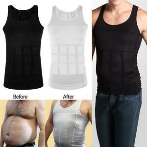 a39ca8c7e8 Men Slim Tummy Corset Shirt Full Waist Trainer BodyShaper Girdle ...