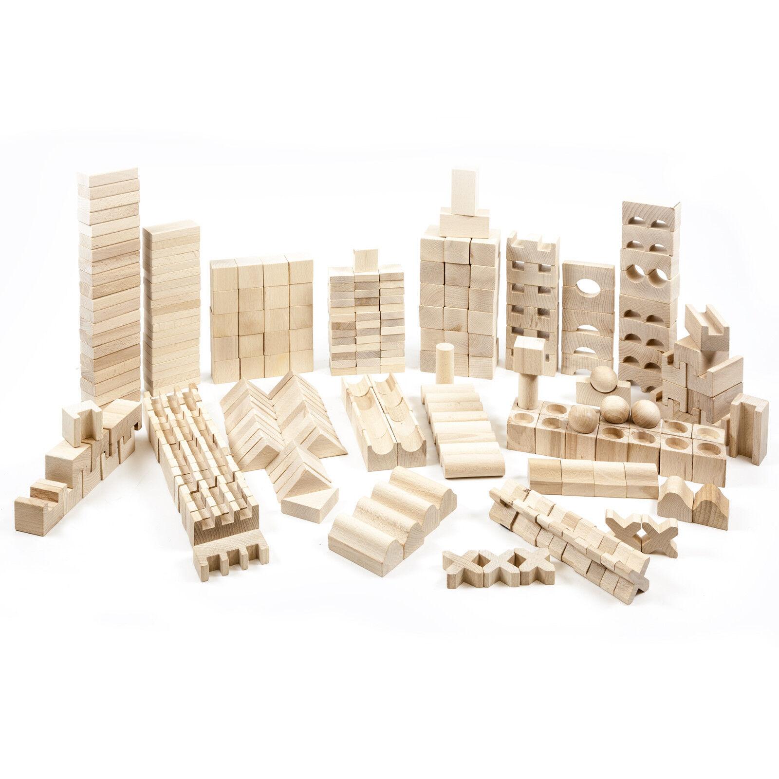 348 Holzbauklötze Holzbausteine Bausteine Buchenholz Holzklötze Bauklötze Holz