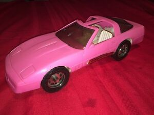 Vintage chevrolet corvette large hot pink barbie dream car fashion image is loading vintage chevrolet corvette large hot pink barbie dream sciox Images