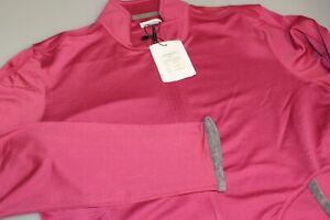 Damen-Full-Zip-Stretch-Langaermeliges-Ashworth-Golf-Top-UN-gefuettert-rosa-Groesse-S-10