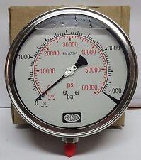 High Pressure Gauge 4000 Bar 60000 Psigly Filledss Body Crdiwaterjet Etc