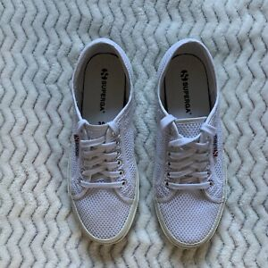 superga womens white basic casual lace up sneakers tennis