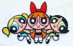 Powerpuff-Girls-Iron-Sew-On-Embroidered-Patch-Badge-Blossom-Bubbles-amp-Buttercup