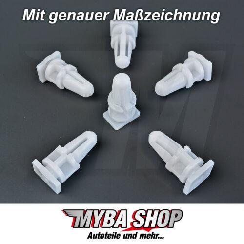 20x Door Sill Panel Mounting Clip BMW E34 E36 E38 E39 E46 in White # New #