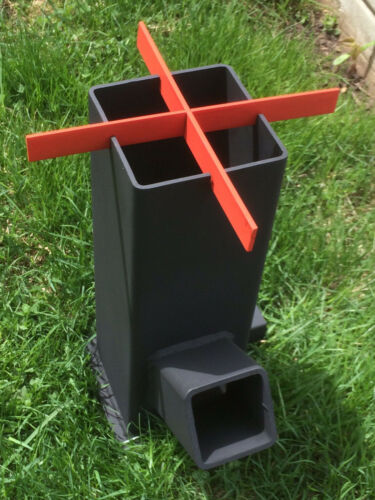 Rocket Stove Heater Portable Wood Burning Stove Top BBQ * Survival Camping