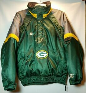 NFL-Pro-Line-Starter-Green-Bay-Packers-1990-039-s-Pullover-Winter-Jacket-Size-M