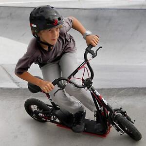 "Black Rip Rail 10"" Wheels Kids 6yr Up BMX Scooter 360 Degree Handlebar Rotation"