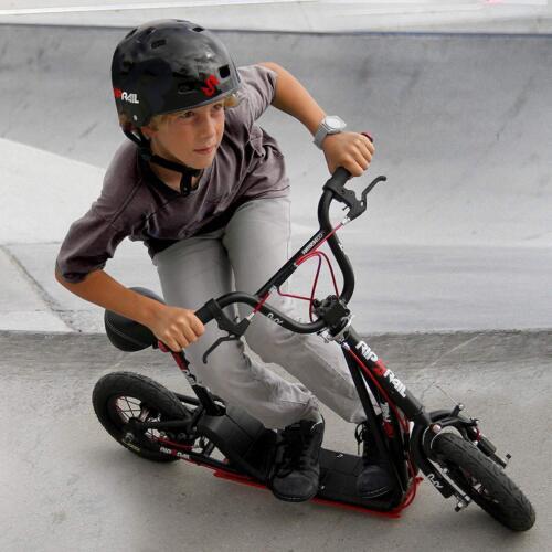 """Nero Rip RAIL 10/"""" Ruote Bambini 6yr UP Bmx Scooter 360 gradi di rotazione del manubrio"""