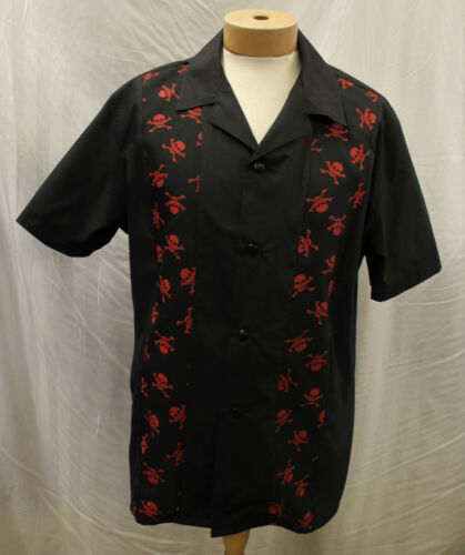Mens 1950s casual short sleeve casual shirt 50s R/'n/'R R/&R Rockin Rockabilly