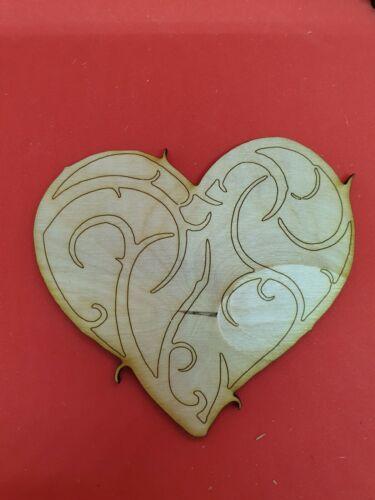 Los patrones de gran corazón corazones amor Adorno Mdf abedul corte láser Formas De Madera