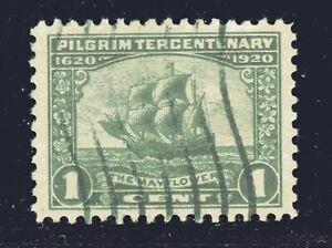 ESTADOS-UNIDOS-Sello-548-1c-Pilgrim-Tercentenary-1920-Superior-Usado