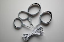 4 x Silikon Ring-Elektroden inkl. Kabel | REIZSTROM/EMS/TENS/E-STIM/ESTIM