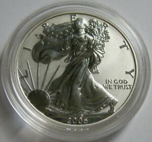 2006-P Reverse Proof AMERICAN SILVER EAGLE COIN ~from the 20th Anniversary Set~