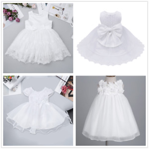 Details Zu Baby Princess Girls Dress Lace Embroidery Christening Wedding Party Kids Clothes