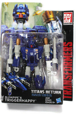 Transformers NEW Deluxe Triggerhappy /& Blowpipe Titans Return Action Figure