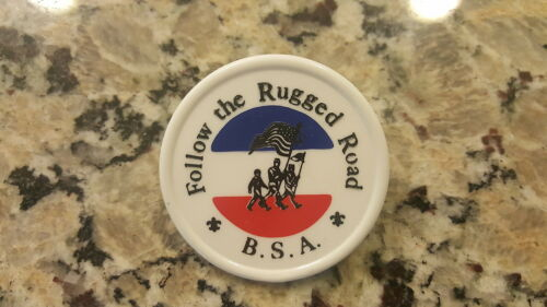 1960's Follow the Rugged Road Neckerchief Slide BSA