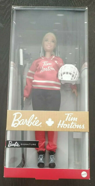 Barbie - Tim Hortons - Mattel 2020 - Signature Hockey Player Doll - USA SELLER