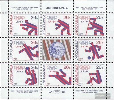 Beautiful Yugoslavia 2075-2082 Hoja Miniatura Nuevo 1984 Medallistas edición Completa