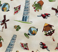 Paper Dolls Around The World Cotton Fabric See The Sites Bfab