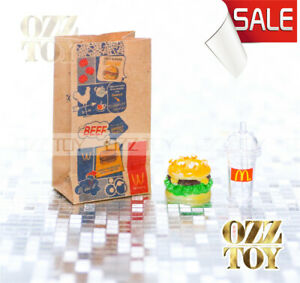 Coles-Little-Shop-2-mini-McDonald-039-s-Fast-food-Set-OZZ-TOY-Miniature1-12