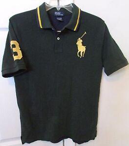 Polo Ralph Lauren  3 Youth Big Horse Logo Polo Shirt Green Blue ... da954edc600