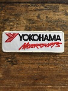 Vtg-Yokohama-Motorsports-Embroidered-Sew-On-Patch-Indy-Racing-Tires-Badge-6