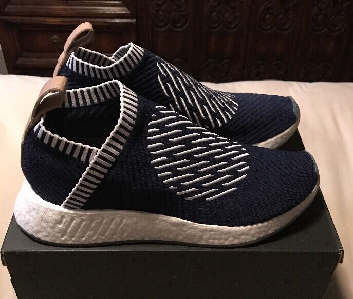 New Mens Adidas White, NMD_CS2 PK, Ronin, Navy/ White, Adidas Size 8.5 6405ee