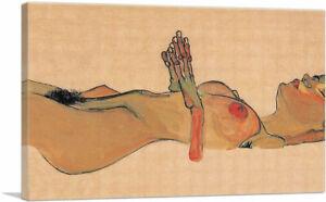 ARTCANVAS Totes Madchen 1910 Canvas Art Print by Egon Schiele