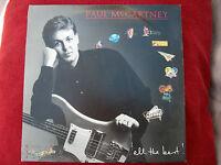 PAUL MCCARTNEY ALL THE BEST GATEFOLD LYRIC SLEEVE VINYL LP