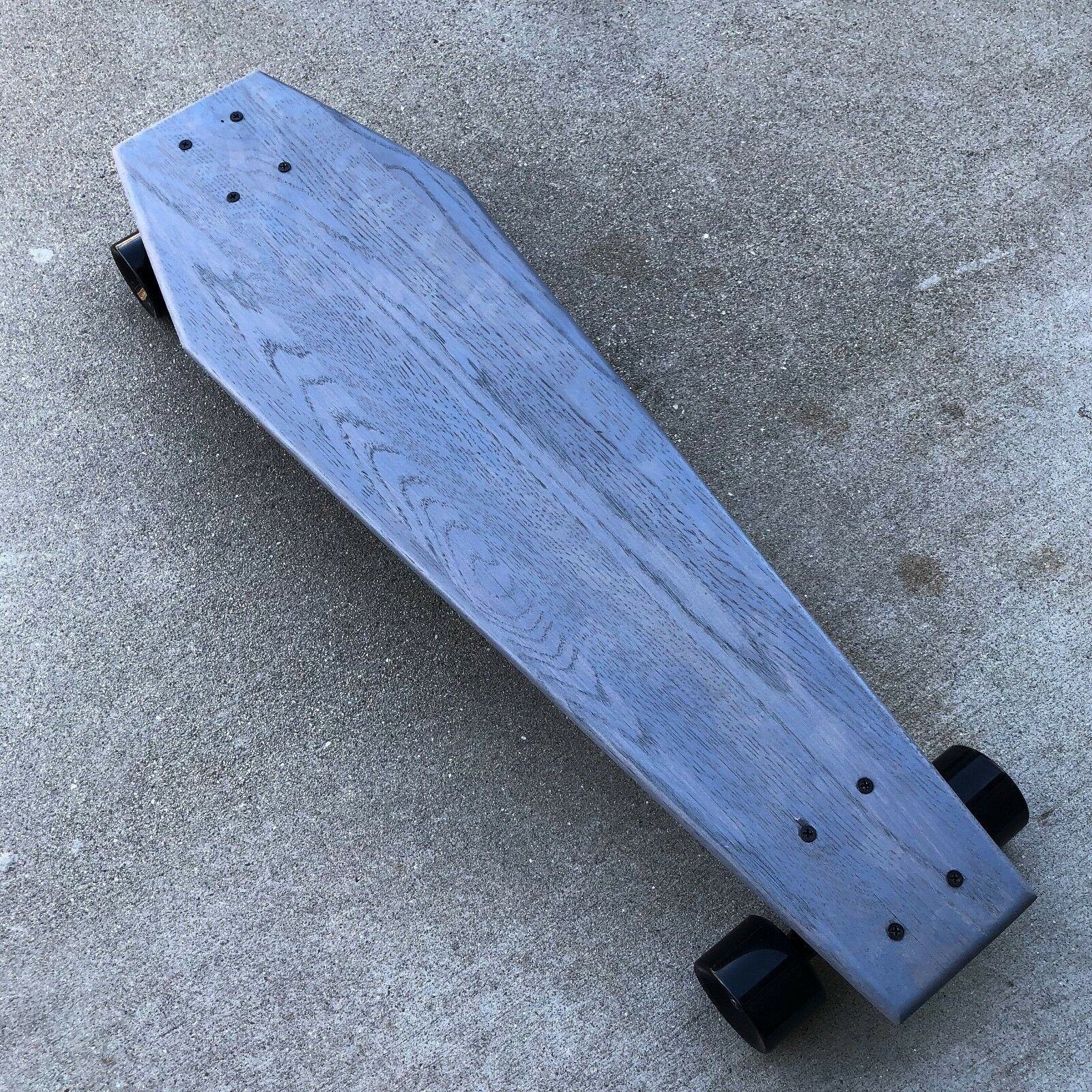 Coffin Grey Cruiser 30 Longboard  made from solid wood