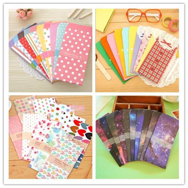 Fashion 5Pcs Cartoon Colorful  Envelope Kawaii Small Baby Gift Craft Envelopes o