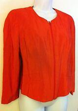 Orange KRIZIA POI womens ladies coat jacket shirt sz 42 (EU) From Italy *EUC*