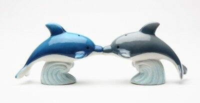 Cute Dolphins Magnetic Ceramic Salt and Pepper Shakers Home Kitchen Decor Gift