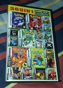 Details about 369 in 1 Multicart GBA Game Boy Advance SP Pokemon Mario DK  SHIPS FAST