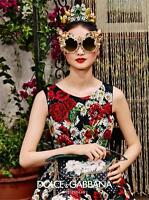 $1,5K  NWOT - DOLCE & GABBANA - PAPPIES & DAISIES PRINT COTTON DRESS  38