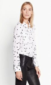 New-Arrival-248-Silk-Slim-Signature-Star-Print-Equipment-Shirt-White-XS-S-M
