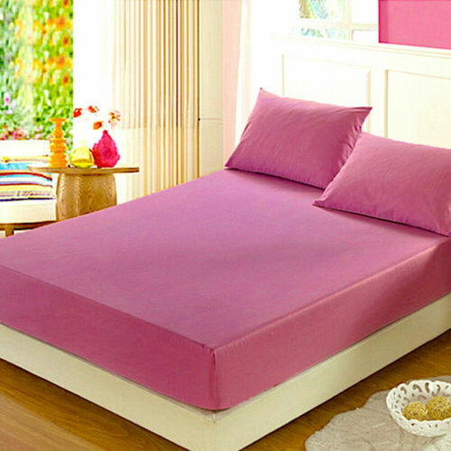 Non Iron Poly Cotton Material Extra Deep Fitted Sheet Single Double King S King
