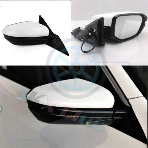 For Honda Civic 10th 2016 17 18 White RH Passenger  Rear View Mirror Assembly J