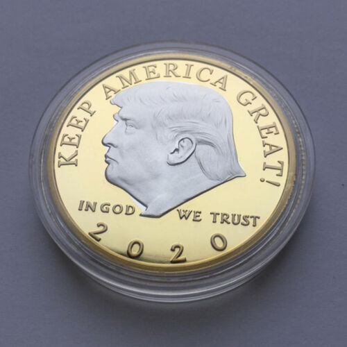 US President Donald Trump 2020 KEEP AMERICA GREAT Silver/&Gold Challenge Coins Dw