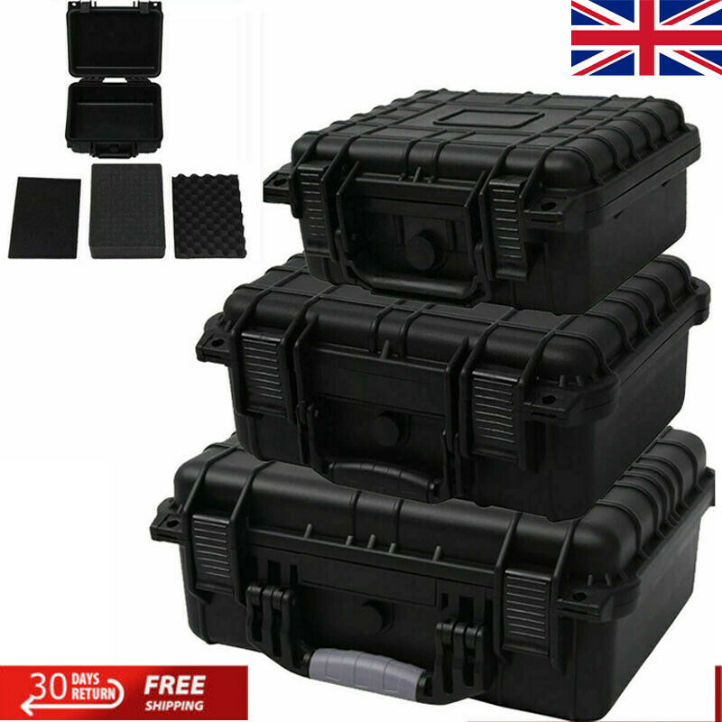 Protective Equipment Hard Carry Case Plastic Storage Box with 3 Removable Foam