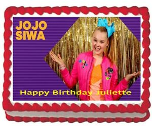 Jojo Siwa Bows Edible Frosting Image Cake Topper Party 1 4