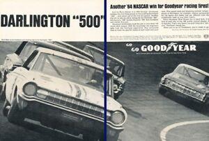 1964-Dodge-NASCAR-Race-Original-2-page-Advertisement-Print-Art-Car-Ad-K39